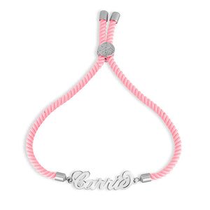 Personalized Cord Name Bracelet