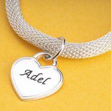 Load image into Gallery viewer, Personalized Heart Bracelet