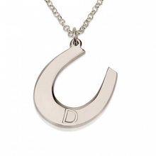 Load image into Gallery viewer, Personalized Horseshoe Necklace