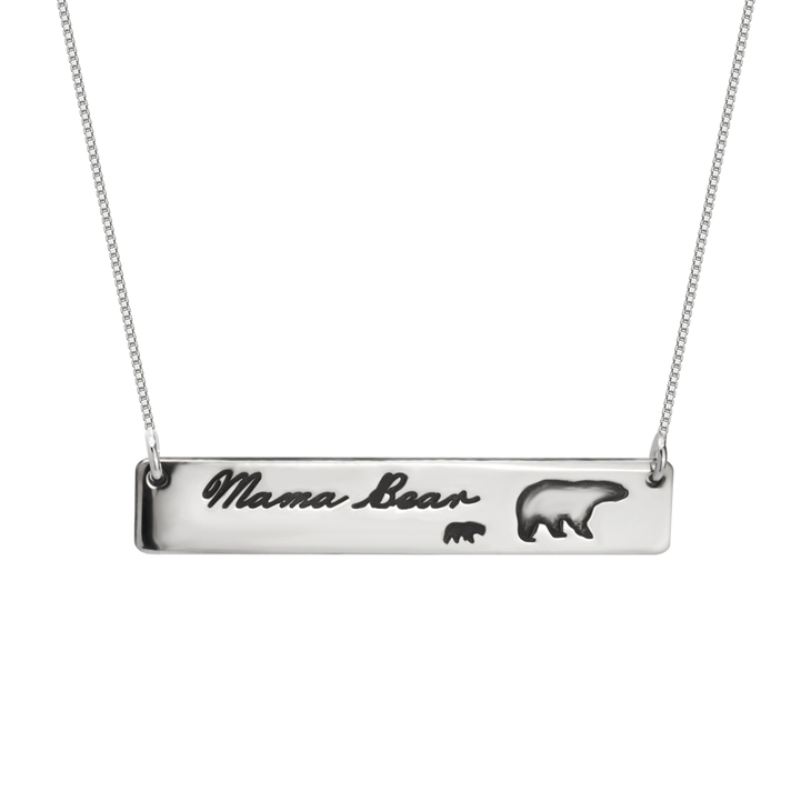 Personalized Mama Bear Necklace