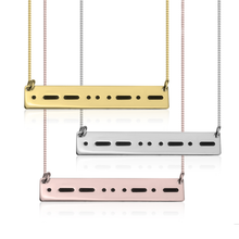 Load image into Gallery viewer, Personalized Morse Code Necklace