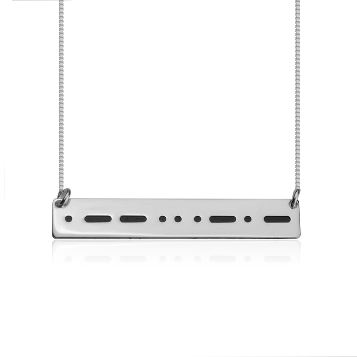 Personalized Morse Code Necklace
