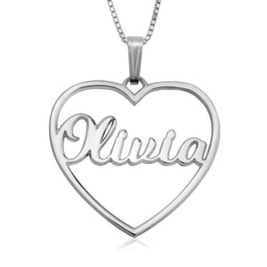 Personalized Open Hear Necklace