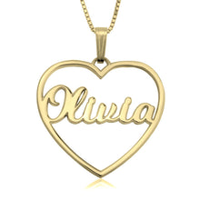 Load image into Gallery viewer, Personalized Open Hear Necklace