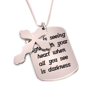 Personalized Prayer Cross Necklace