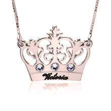 Load image into Gallery viewer, Princess Crown Necklace