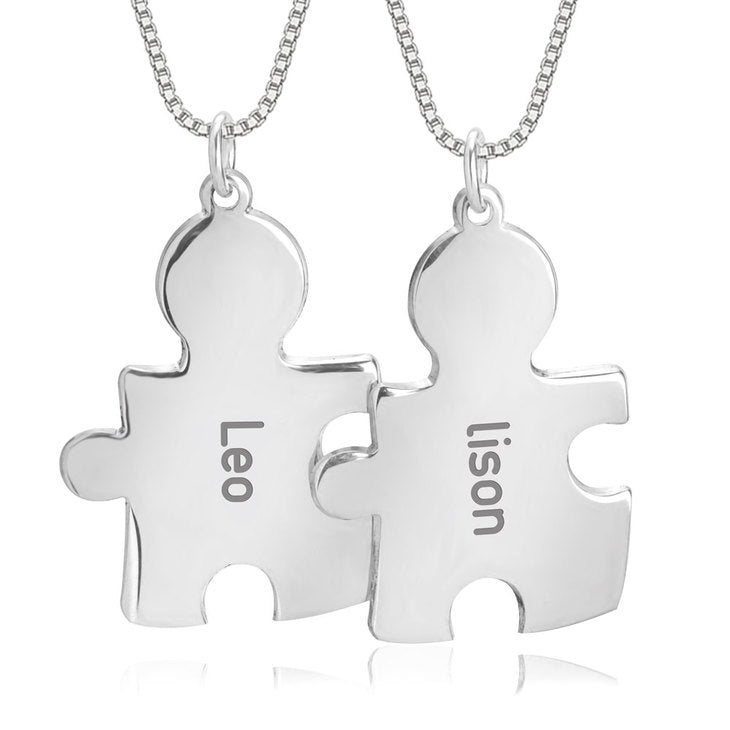 Puzzle Necklace For Couple