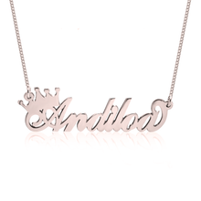 Load image into Gallery viewer, Queen Crown Name Necklace
