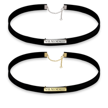 Load image into Gallery viewer, Roman Numeral Choker Necklace