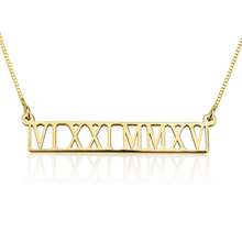 Load image into Gallery viewer, Roman Numeral Cutout Necklace
