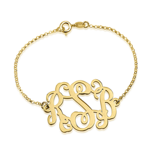 Load image into Gallery viewer, Round Monogram Bracelet
