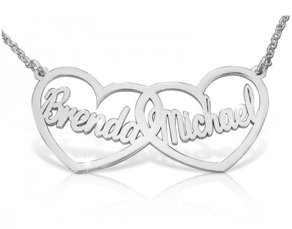 Lovers Heart Name Necklace