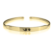 Load image into Gallery viewer, Semi Colon Bangle