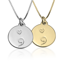 Load image into Gallery viewer, Semi Colon Pendant Necklace