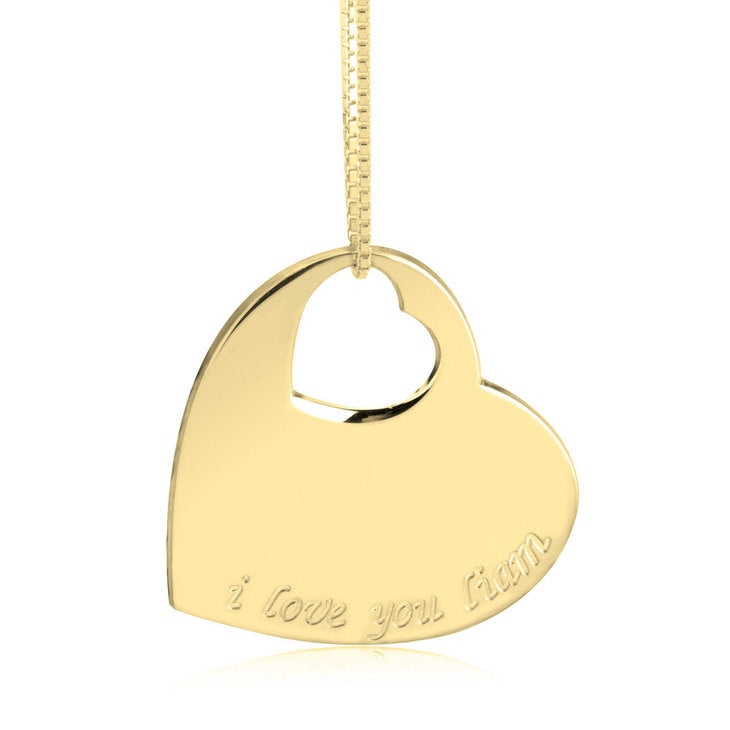 Small Cutout Heart Necklace