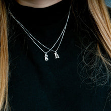 Load image into Gallery viewer, Small Letter Initial Necklace