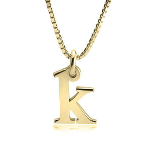 Small Letter Initial Necklace