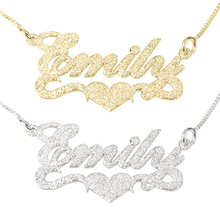 Load image into Gallery viewer, Sparkle Name Necklace with Heart