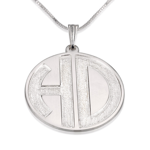 Sparkling 2 Letters Monogram Necklace