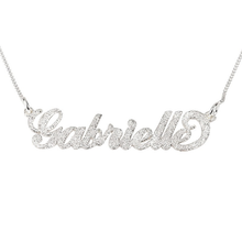 Load image into Gallery viewer, Sparkling Carrie Name Necklace