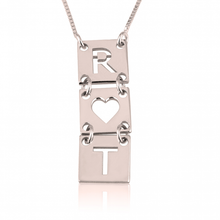 Load image into Gallery viewer, Stacked Cut Out Initial Necklace