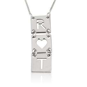 Stacked Cut Out Initial Necklace