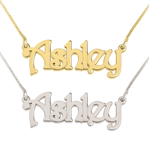 Steampunk Name Necklace