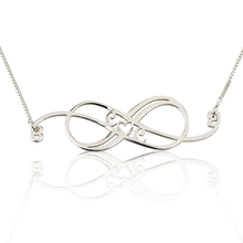 Load image into Gallery viewer, Swirly Initial Infinity Necklace