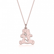 Load image into Gallery viewer, Teddy Bear Initial Necklace