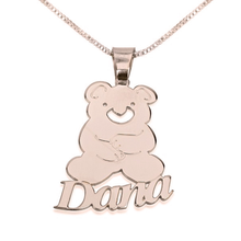 Load image into Gallery viewer, Teddy Bear Pendant with Name