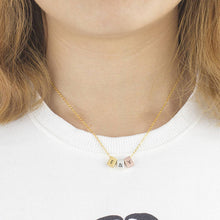 Load image into Gallery viewer, Three Tone Minimalist Necklace