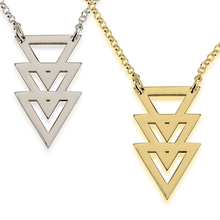 Load image into Gallery viewer, Triple Triangle Necklace
