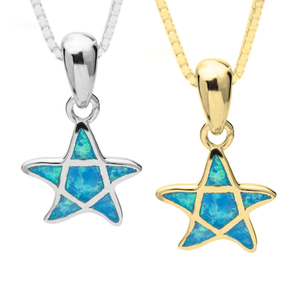 Turquoise Star Opal Necklace