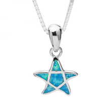 Load image into Gallery viewer, Turquoise Star Opal Necklace