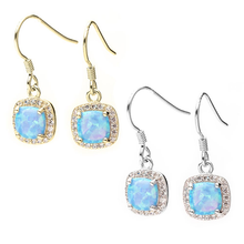 Load image into Gallery viewer, Turquoise Opal Earrings