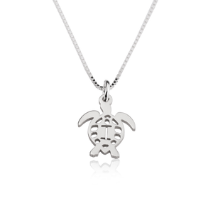 Turtle Initial Necklace