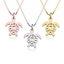 Load image into Gallery viewer, Turtle Initial Necklace