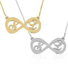 Load image into Gallery viewer, Two Letters Infinity Necklace