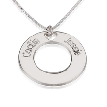 Load image into Gallery viewer, Two Names Circle Necklace