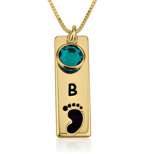 Load image into Gallery viewer, Vertical Bar Footprint Necklace