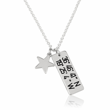 Load image into Gallery viewer, Vertical Coordinates Necklace