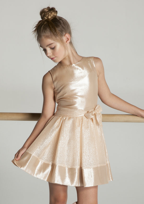 Dresses in Silk Metallic & Pastel Tones