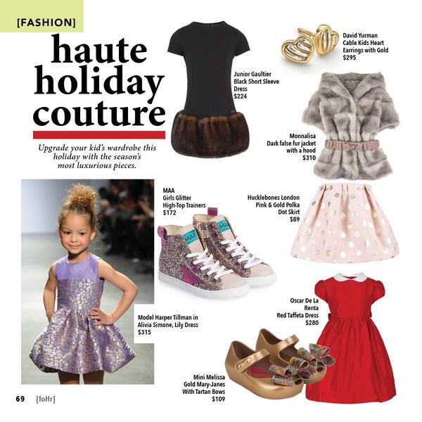 Haute Holiday Couture | Alivia Simone Lily Dress as seen in foHr Magazine