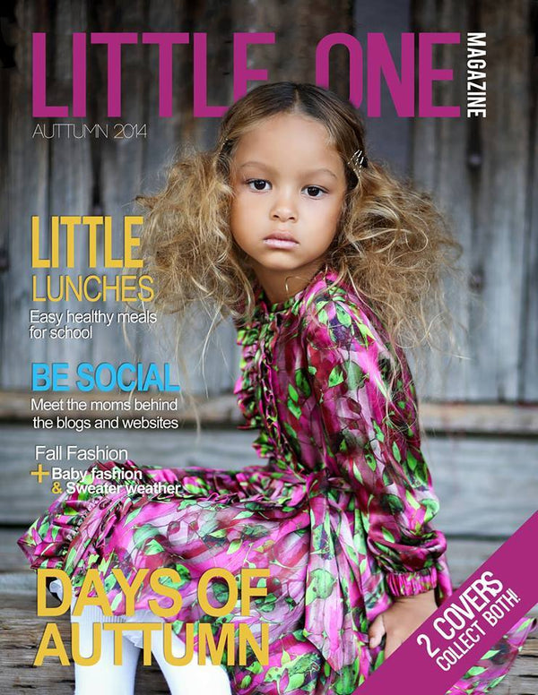 On the cover of Little Ones Magazine