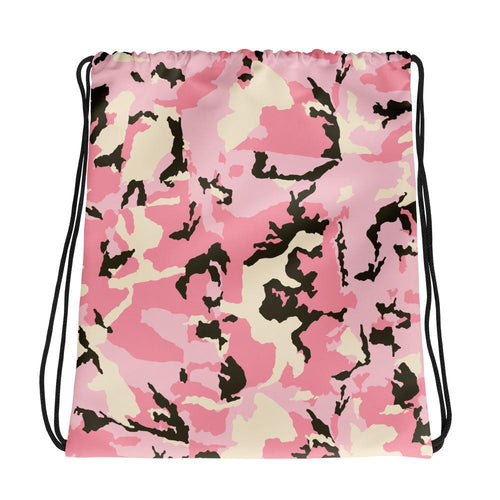 Drawstring Bag - Allover Pink Camouflage Drawstring Bag