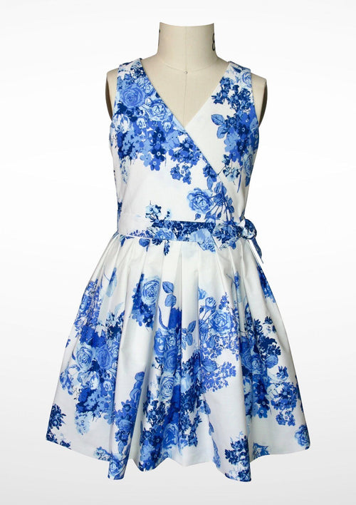 Dress - Aria Blue Blooms Dress