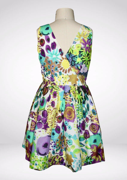 Dress - Aria Summer Bloom Dress - Purple