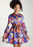 Dress - Brianna 'Passion Flower' Long Sleeved Dress