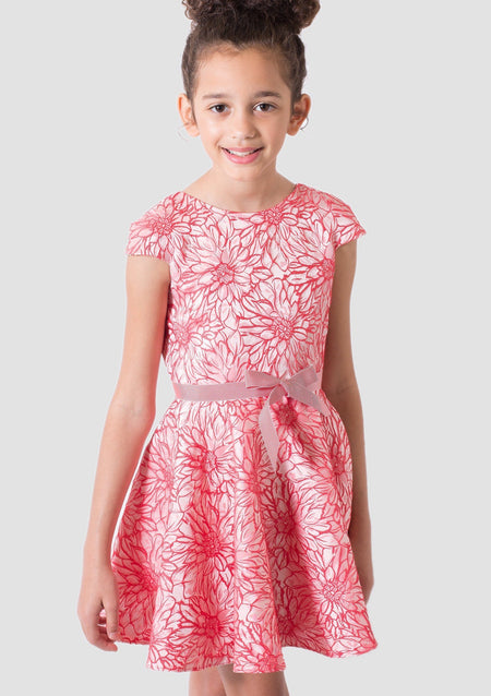 Donatella Party Dress with Front Bow