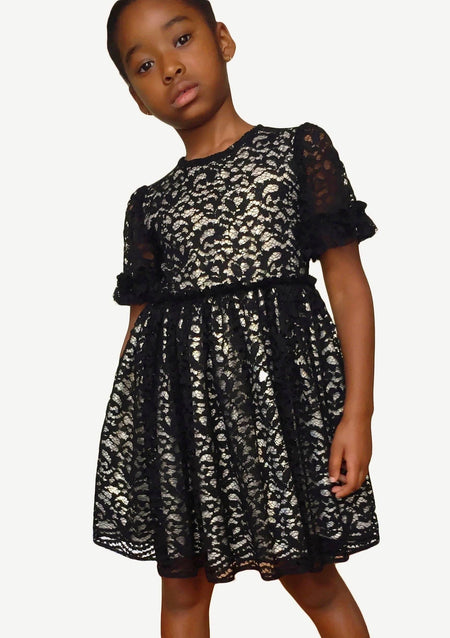 Kayla Multicolored Sequins Lace Dress
